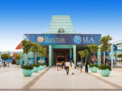 S.E.A. Aquarium de la Resort World Singapore.