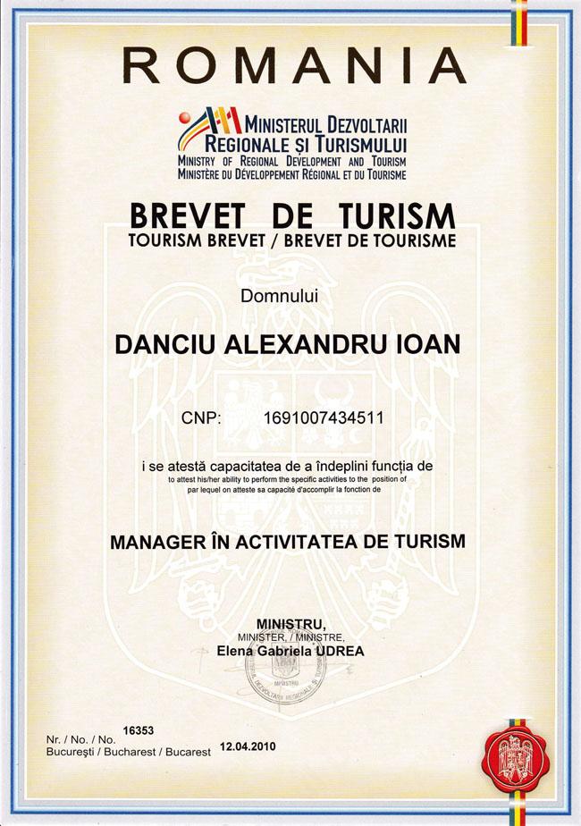 Brevet Turism Alex Danciu