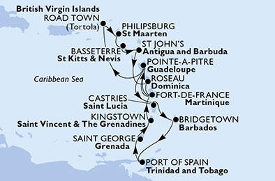 Caraibe MSC Seaview imbarcare Pointe a Pitre