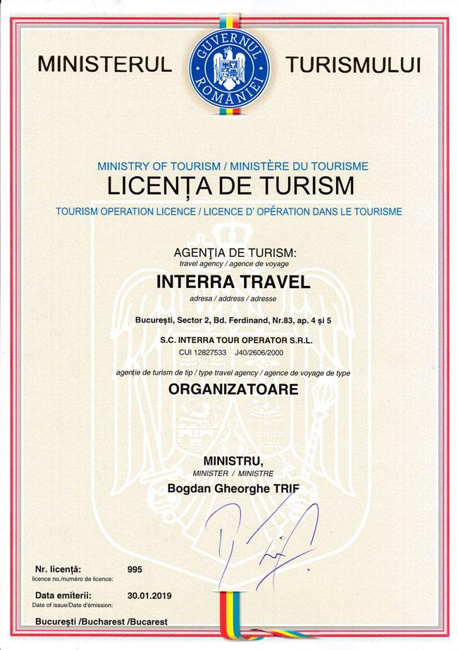 Licenta Interra Travel