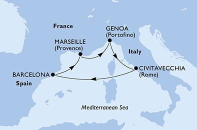 Marea Mediterana MSC Seaview Barcelona 5 nopti