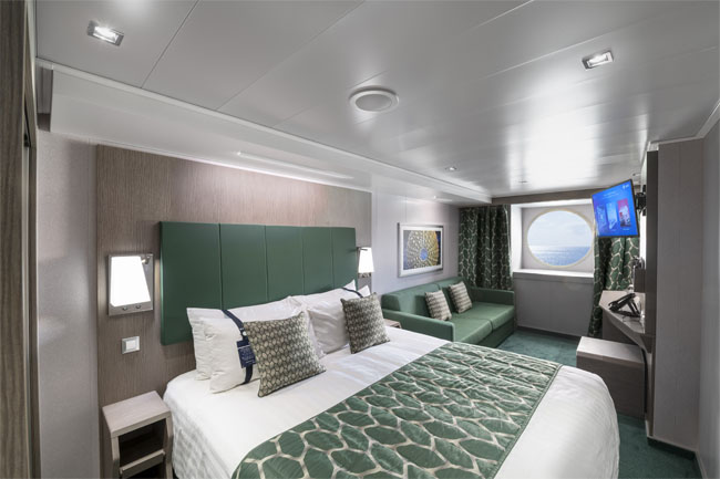 MSC Seaview cabina exterioara