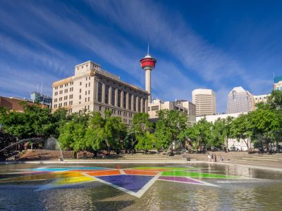 Turul include: Scotsman's Hill, Stampede Park, Calgary Tower,
