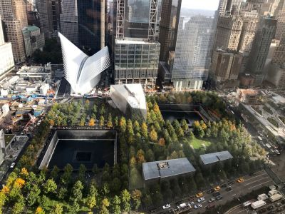 Ground Zero fostul amplasament al Turnurilor Gemene World Trade Center