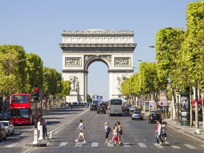 Paris, Champs Elysees, Paris Arcul de Triumf