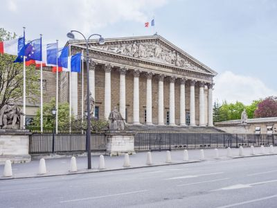 Paris Palat Bourbon Assemblee Nationale